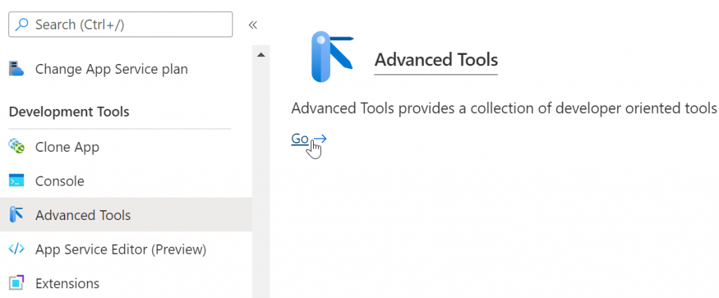 Accessing KUDU from the Azure Portal